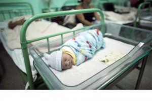 Bebé nacido el 19 de junio en el hospital Ana Betancourt en Camaguey, Cuba.