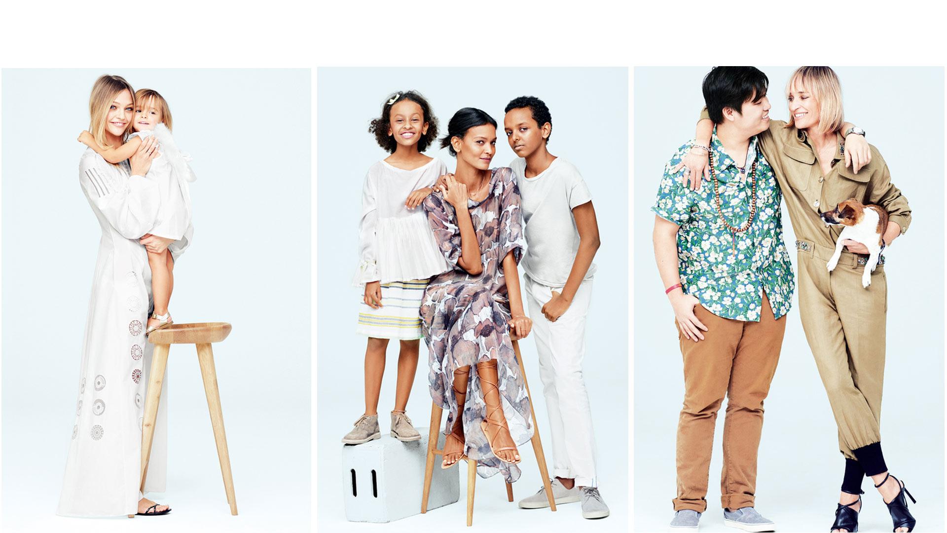 Madres del mundo de la moda y del arte posan con sus hijos para demostrar todo su glamour