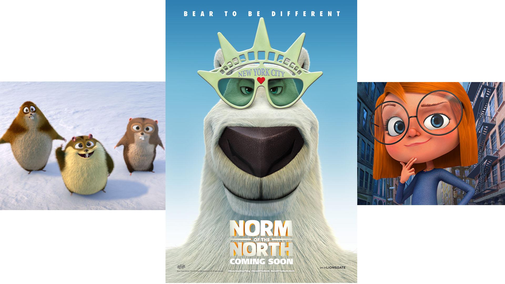 """""""Norm of the North"""" narra las aventuras de un oso polar que llega a la gran manzana para evitar que su hogar sea invadido por humanos"""