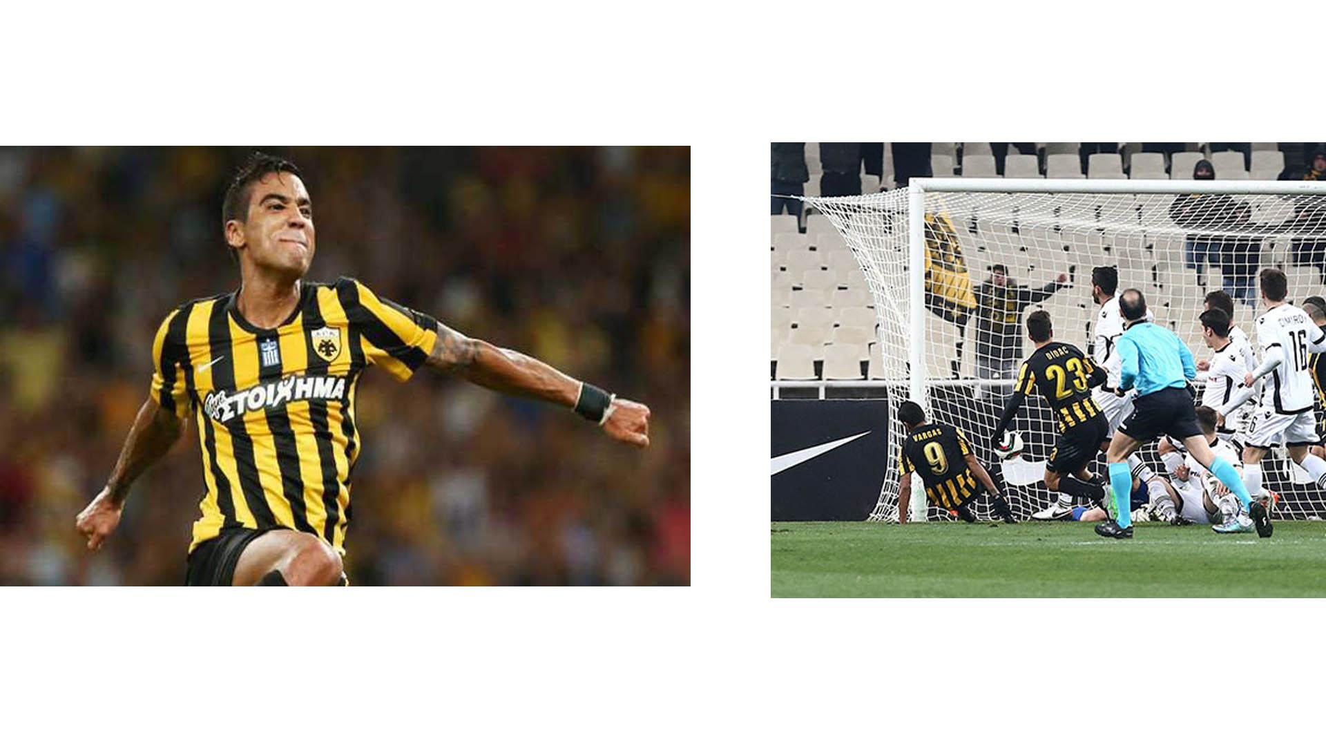 El venezolano marcó el gol de la victoria 1-0 del AEK de Atenas contra el PAOK Thessaloniki