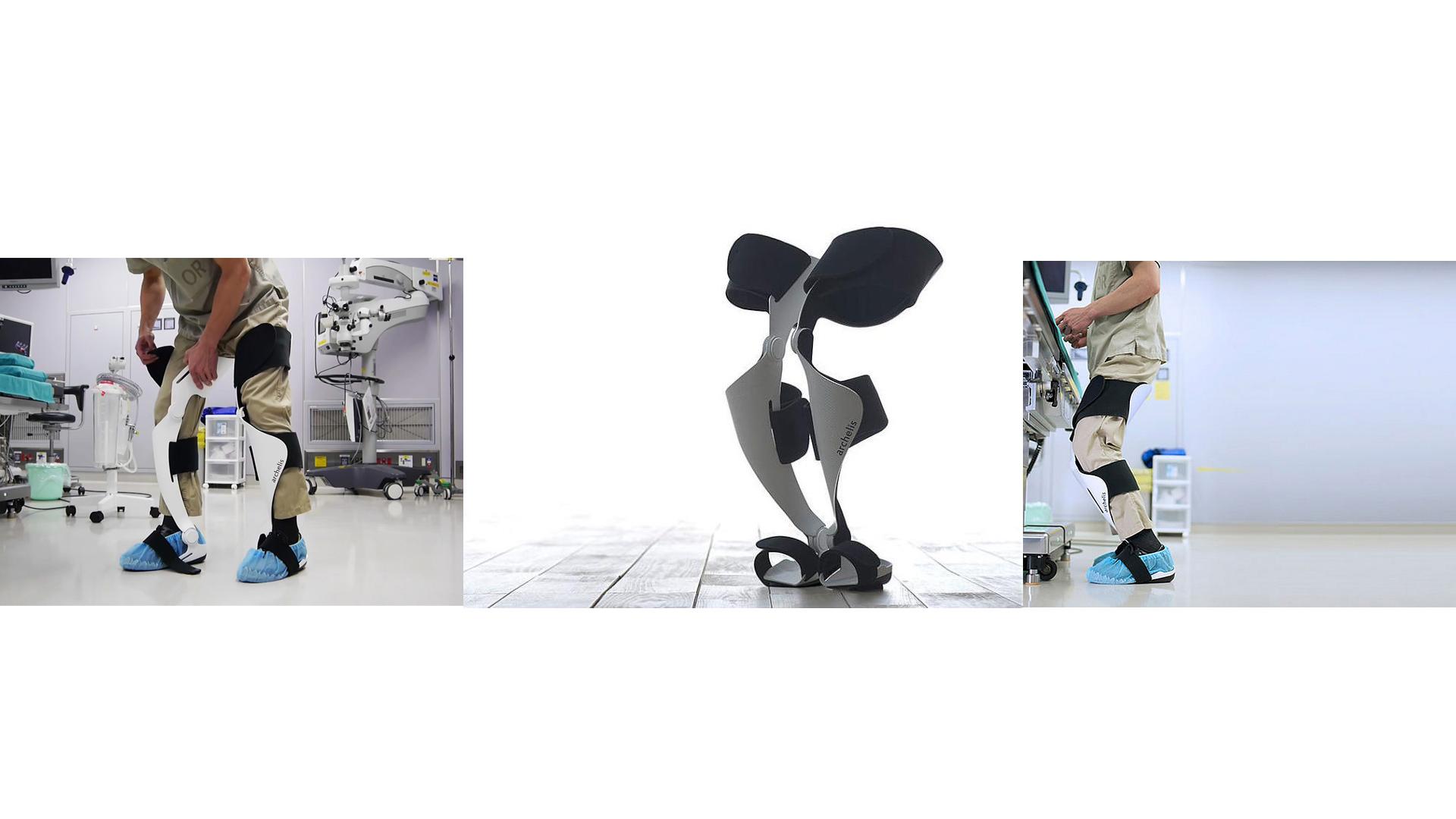 Se trata de un exoesqueleto que hace sencillo el estar parado durante horas, pues tus piernas solo realizarán un esfuerzo similar al de estar sentado