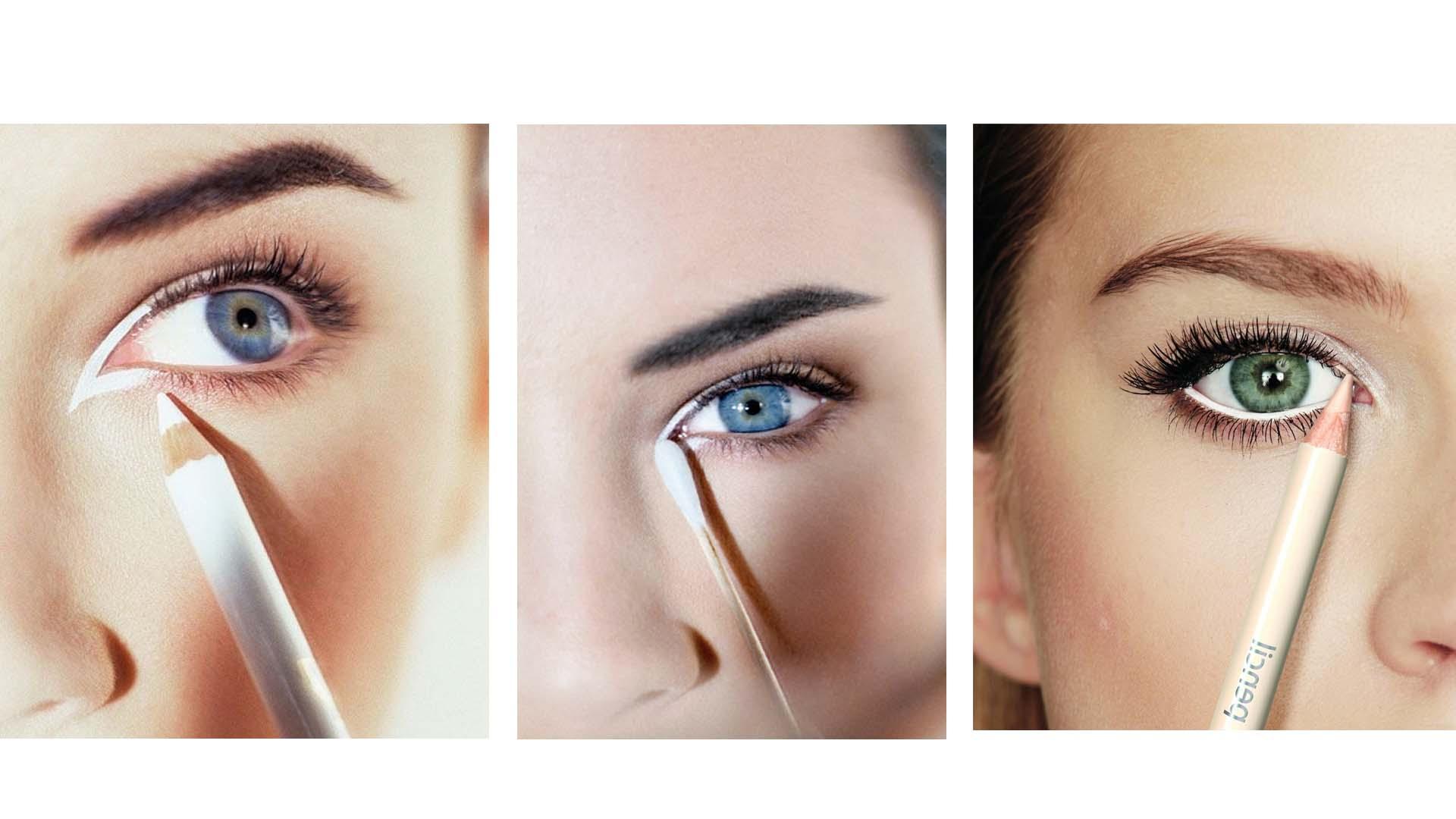 En las pintura los tonos fríos proporcionan belleza natural en el maquillaje sucede lo mismo, de ahí el boom del delineador claro