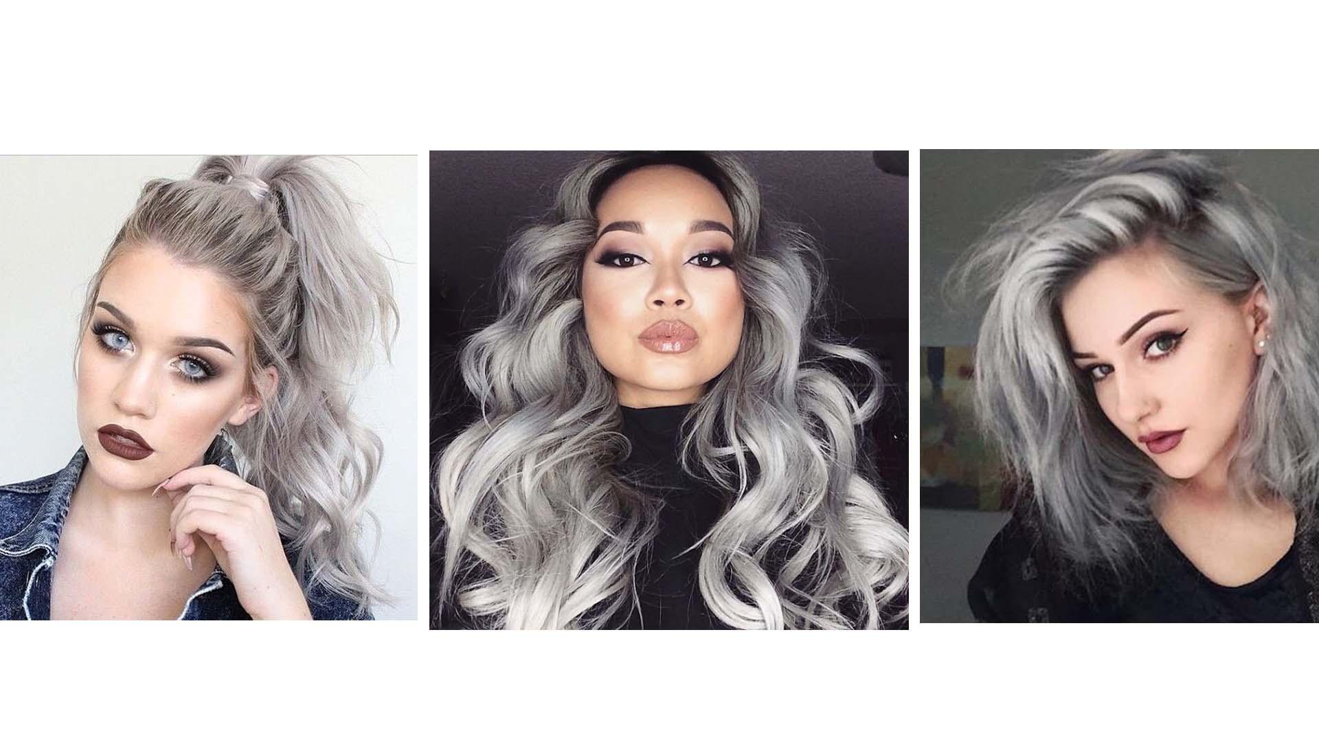 El Granny Hair como denomina esta tendencia consiste en pintarse el cabello de tonos plateados y grises