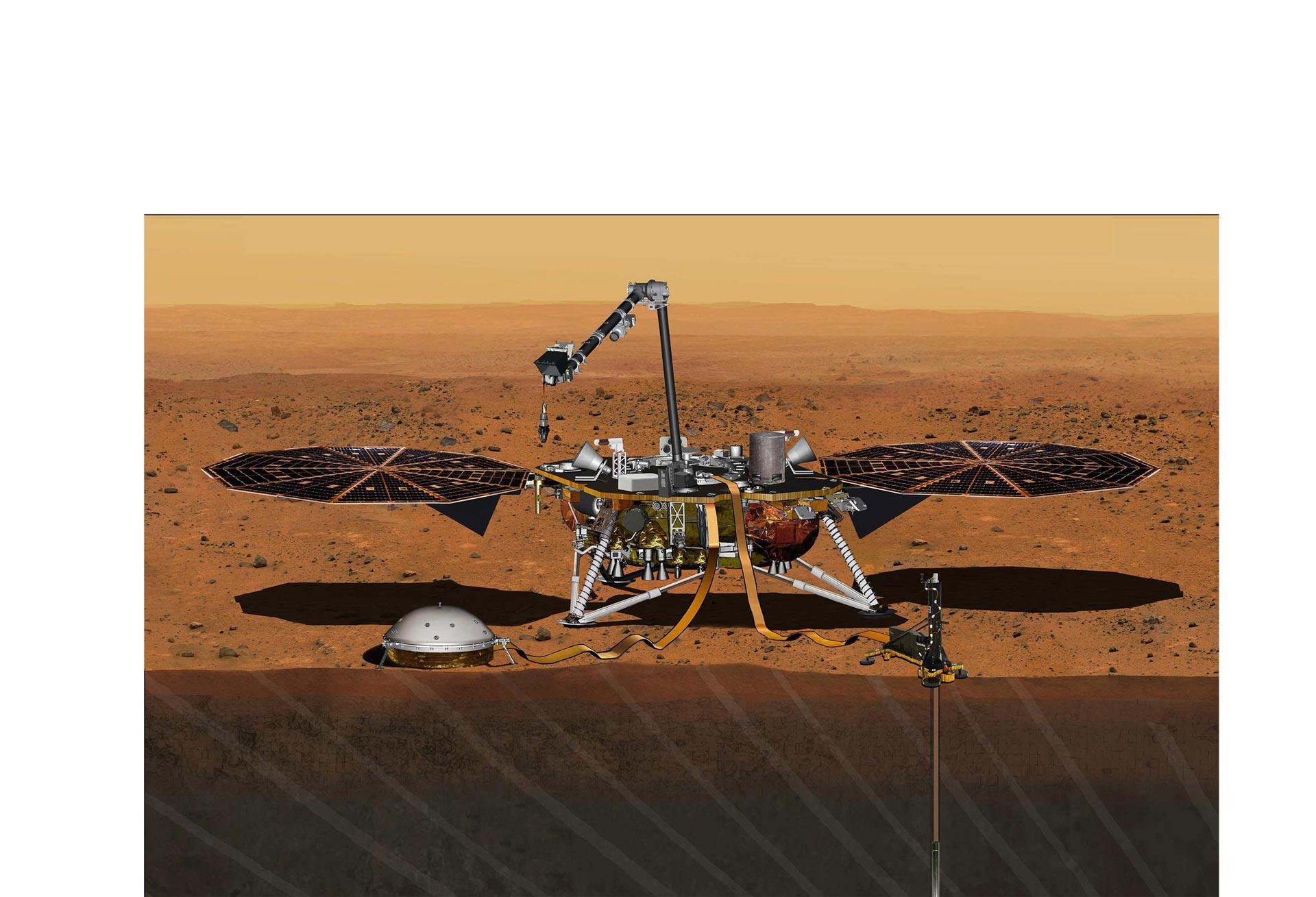 La misión InSight fue postergada dos años. El objetivo de la misma será investigar la estructura interna del planeta