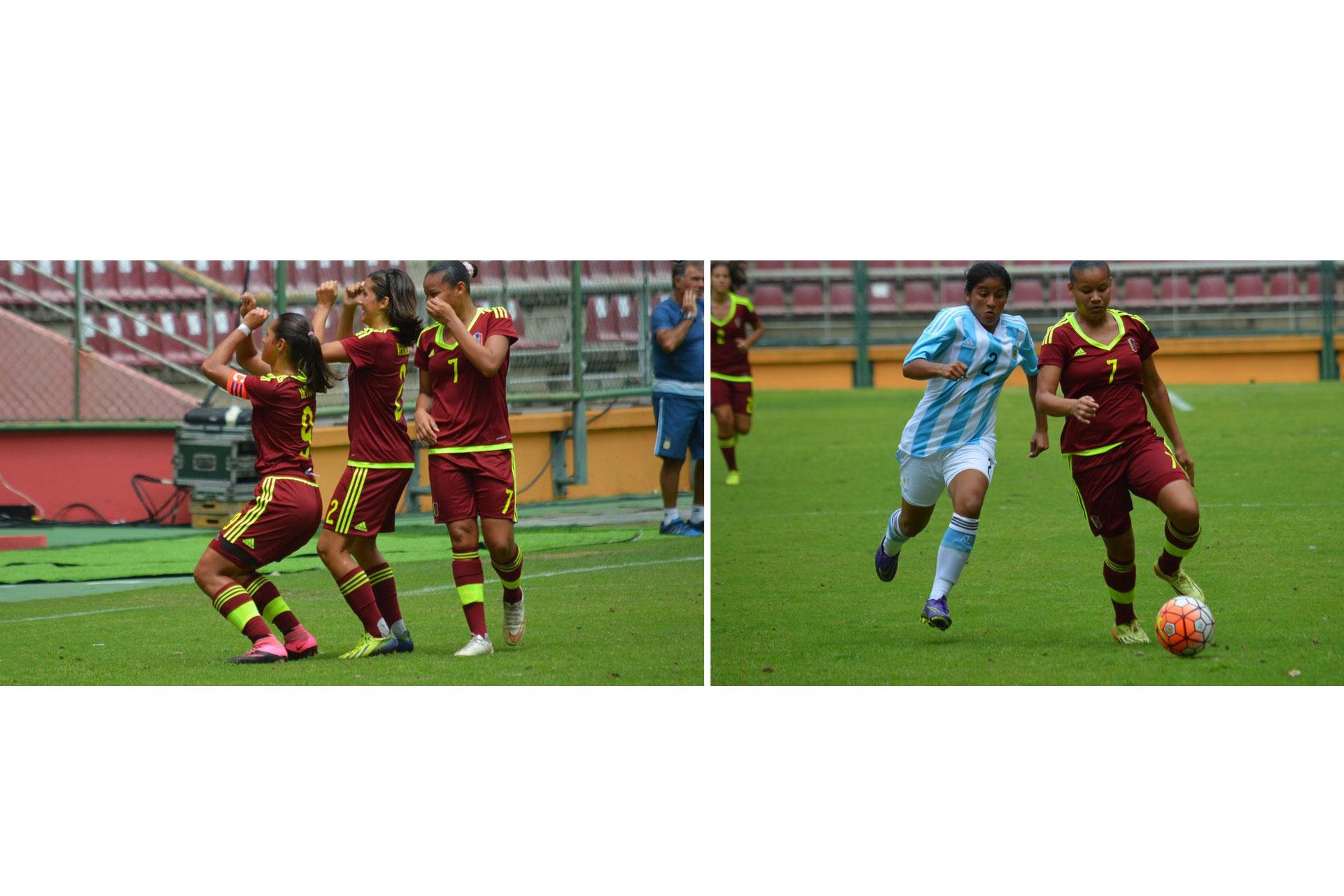 La Vinotinto femenina sub 17 venció 3-0 a Argentina en su debut en el Sudamericano de la categoría