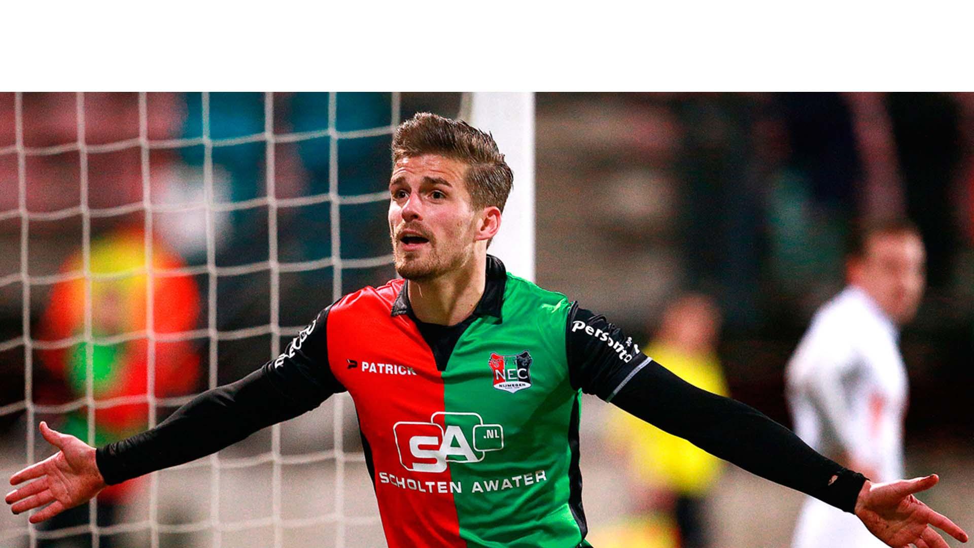 El venezolano marcó el primer gol de la victoria del NEC Nijmegen 2-1 ante el Cambuur y llegó a 16 tantos en la Eredivisie