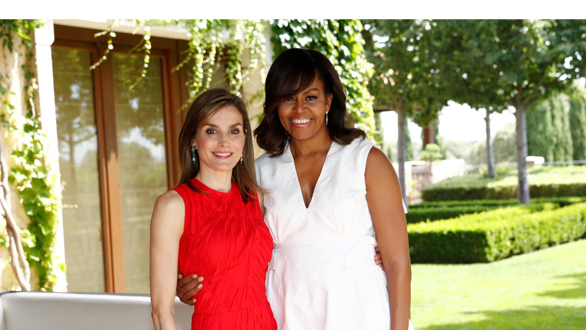 Michelle y Letizia unidas por la educación