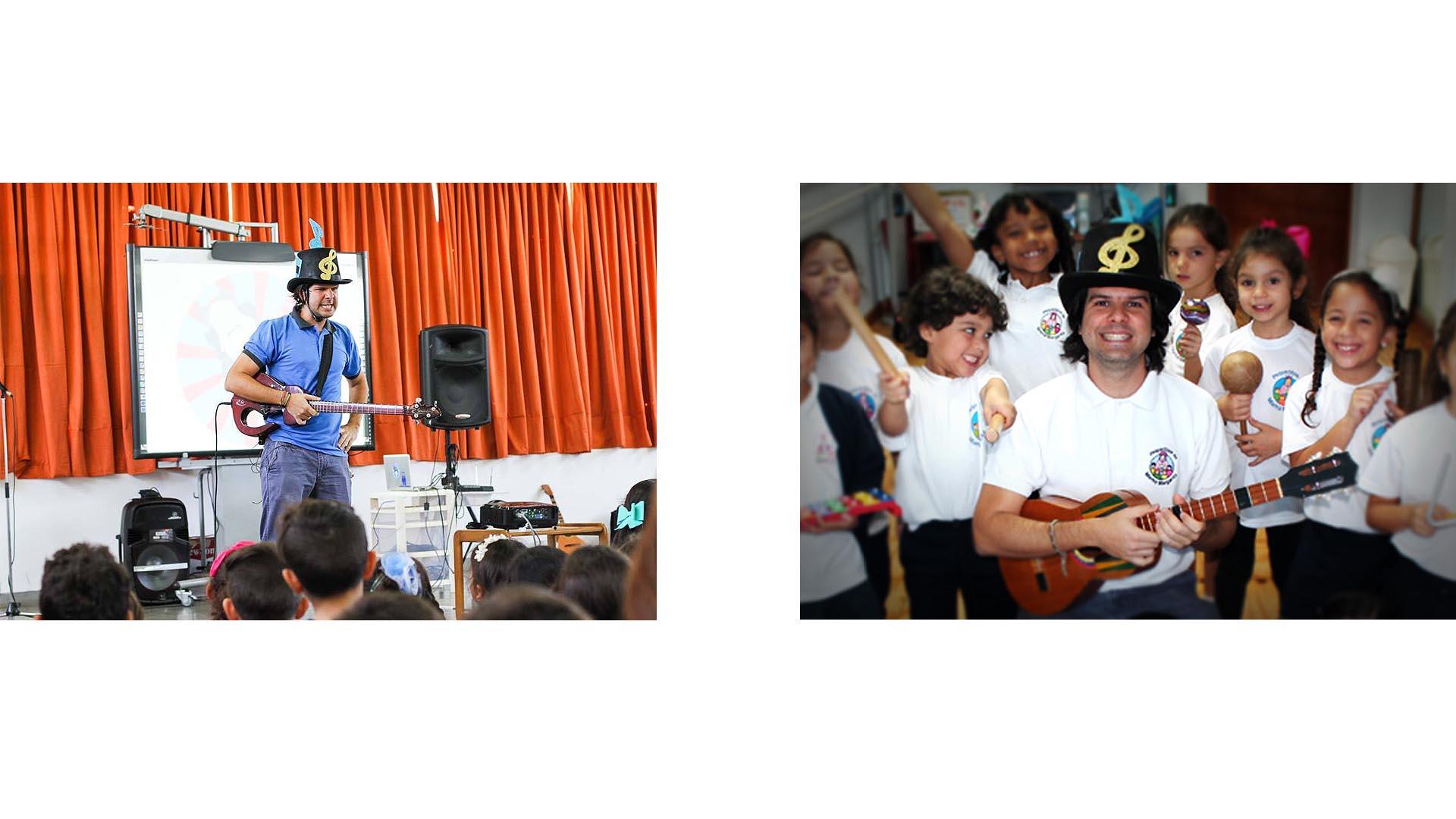 """El músico Gabriel """"Pepo"""" Lamberti incluye en su disco temas que buscan sensibilizar a los pequeños y también darle herramientas a las maestras para educarlos"""