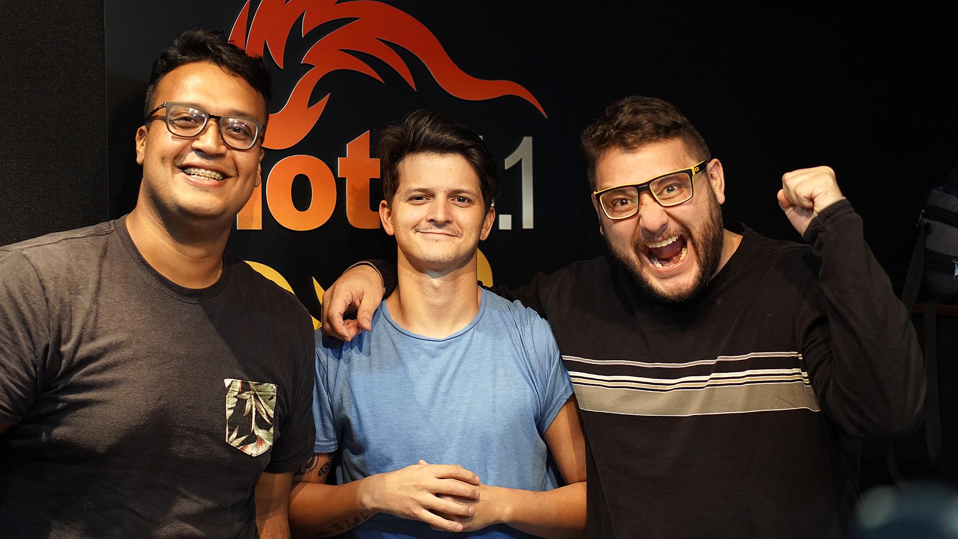 Oscar Martínez López, Alfredo Lovera y Rodolfo Colmenares, llevan las noticias de una forma jocosa en Hot 94 FM