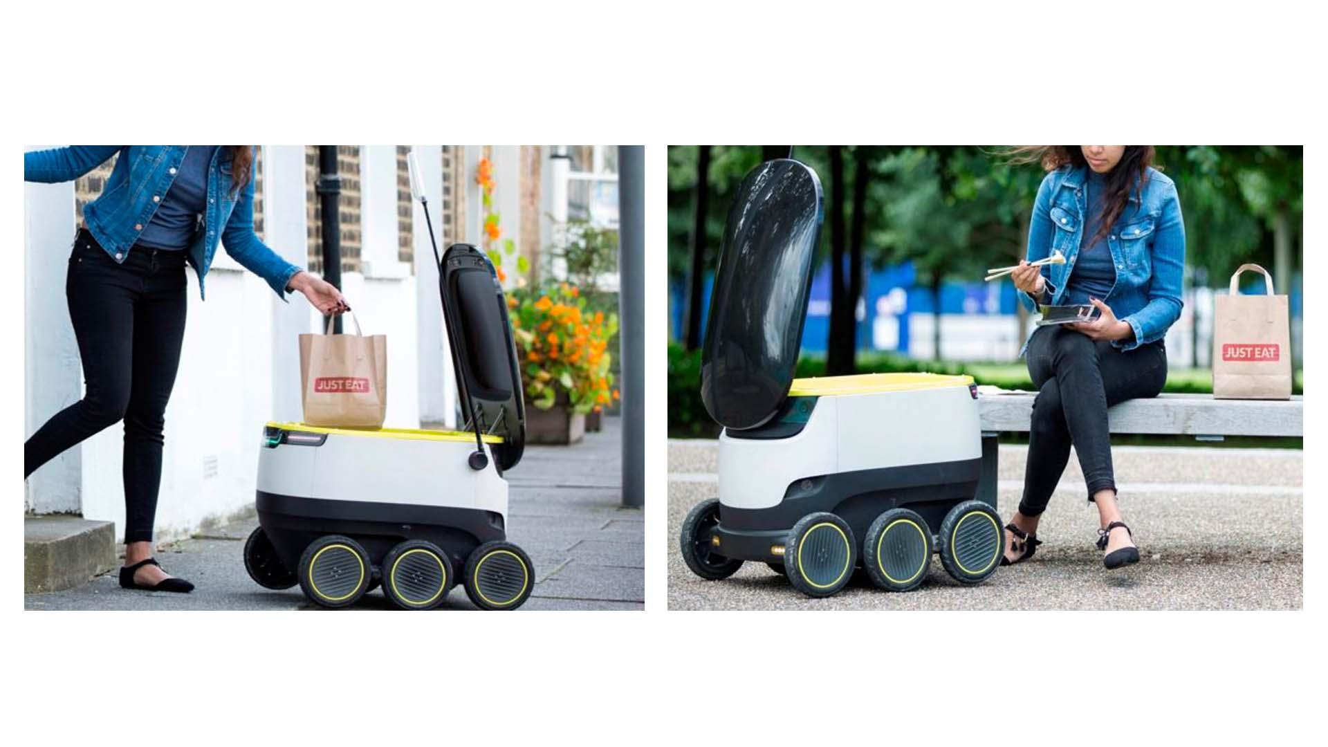 La compañía Just Eat desarrolló unos robots que estarán en fase de prueba con un radio de acción de una milla