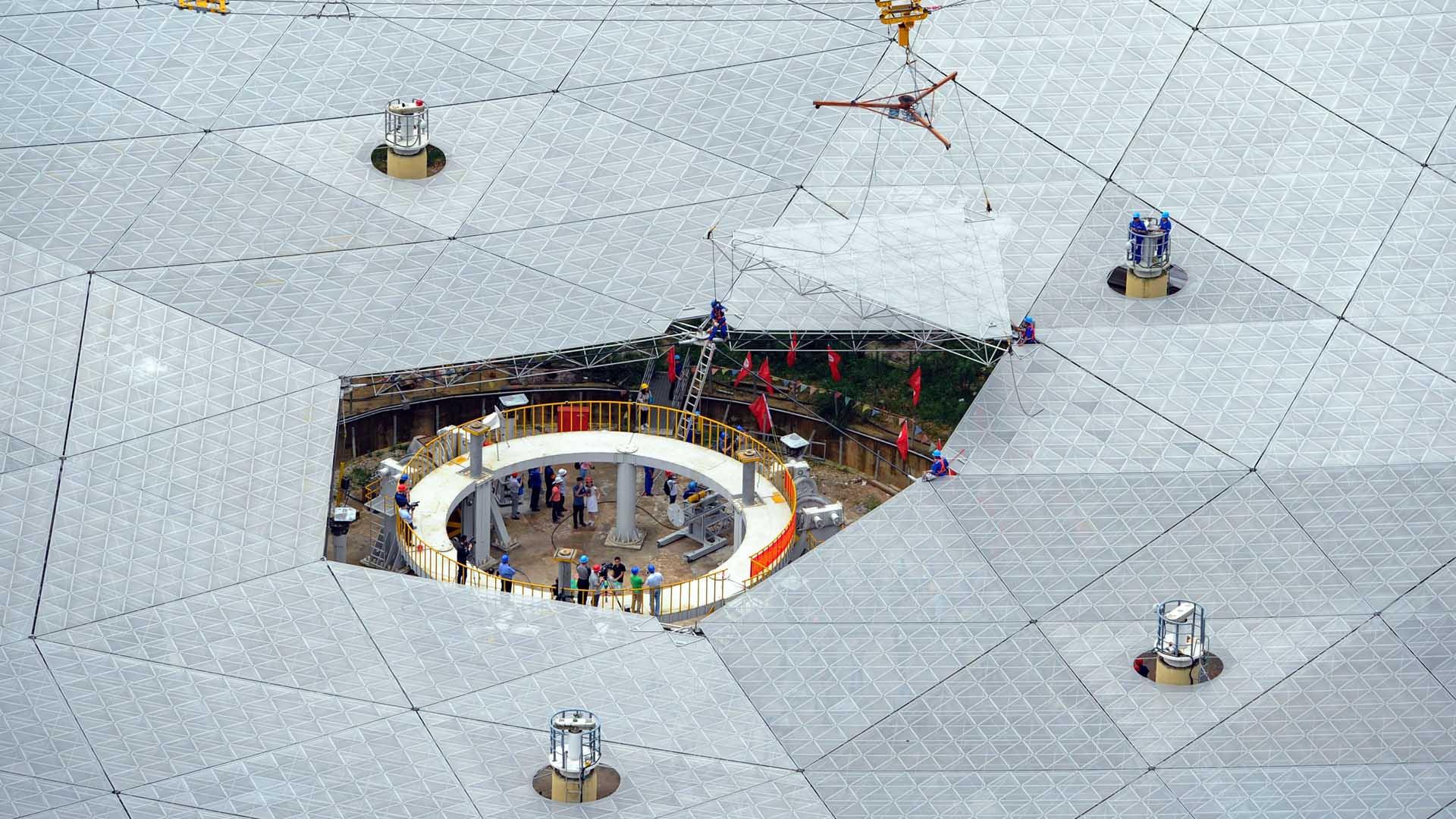 El aparato que servirá para analizar ondas procedentes del espacio será inaugurado en septiembre
