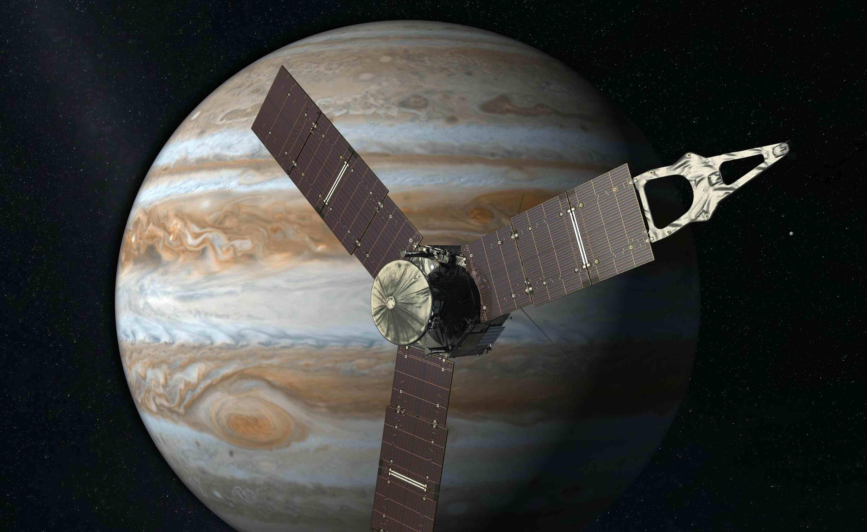 La sonda espacial de la NASA recolecta datos del planeta gigante para averiguar más sobre cómo se formó el Sistema Solar