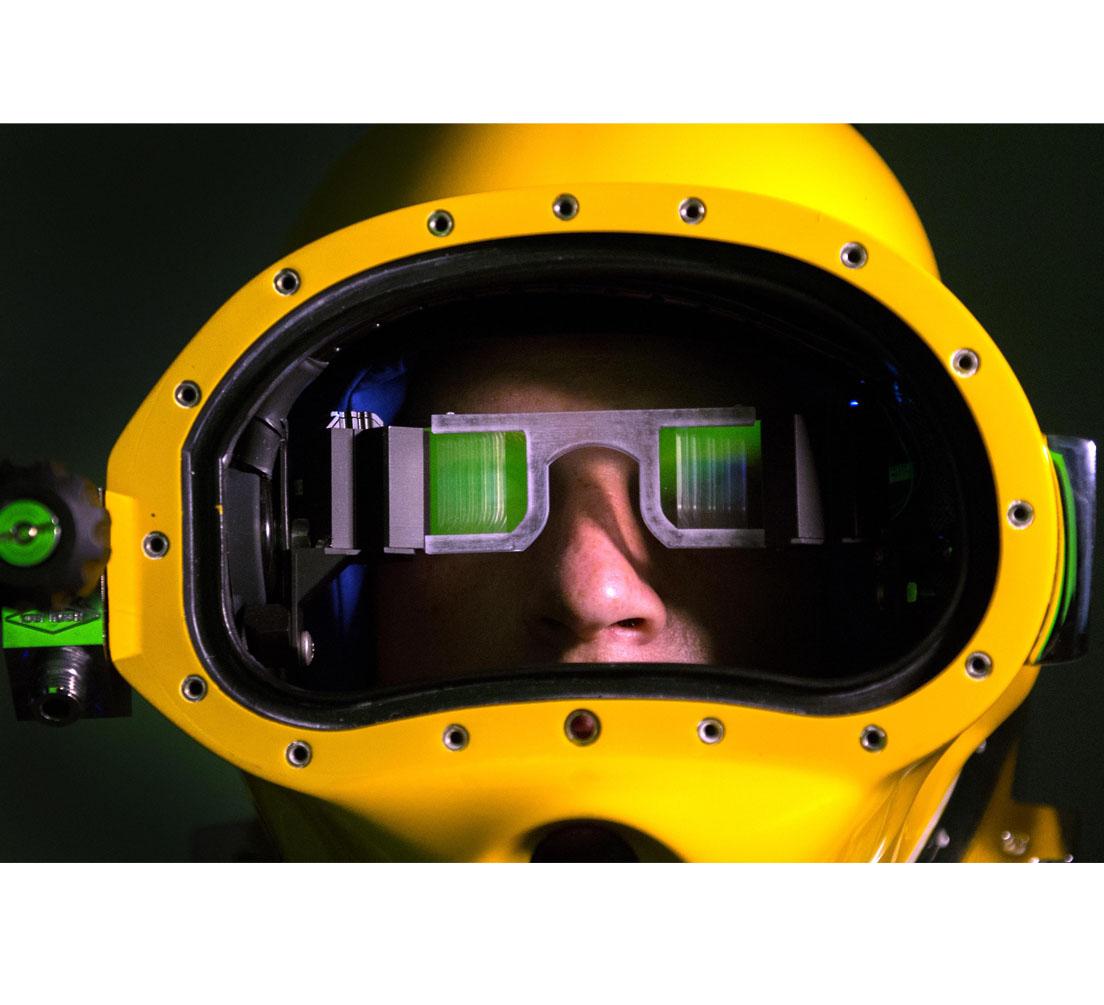 """Se trata del visor de realidad aumentada """"DAVD"""" el cual ofrecerá mayor visibilidad a los buceadores a través de información digital adicional durante sus exploraciones"""