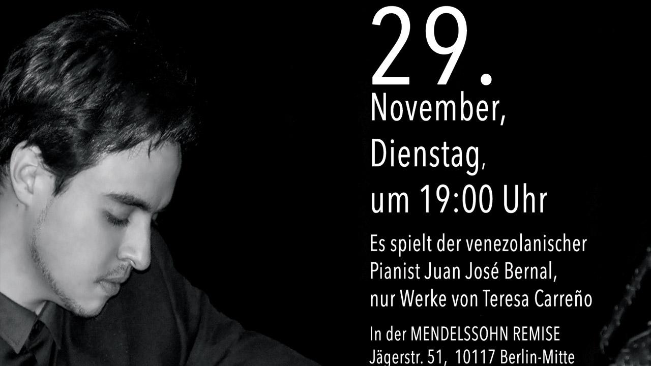 El músico Juan José Bernal estará presentándose en la mítica sala de Mendelssonh Remise ubicada en Berlín