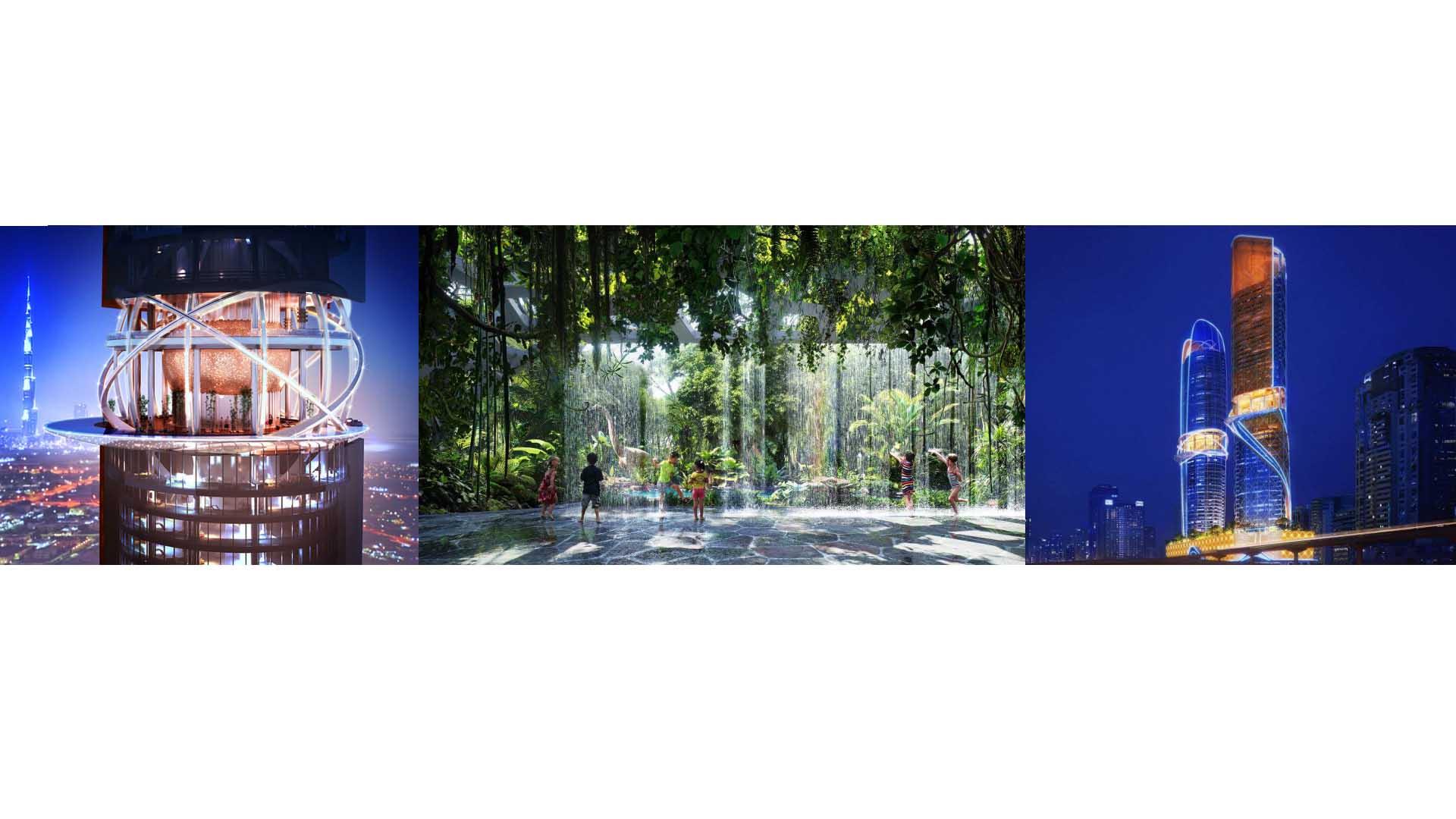 La creación de dos torres convertidas en hoteles tendrán en su interior exóticas áreas para ofrecer a sus huéspedes