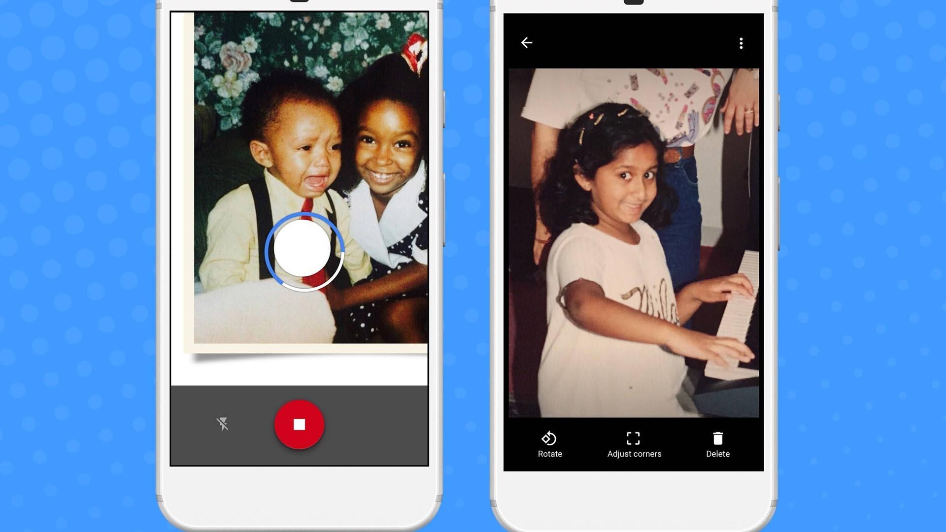 Photo Scan guardará las imágenes de tu vida corrigiendo las deformaciones del lente, eliminando los reflejos del flash o de la luz artificial