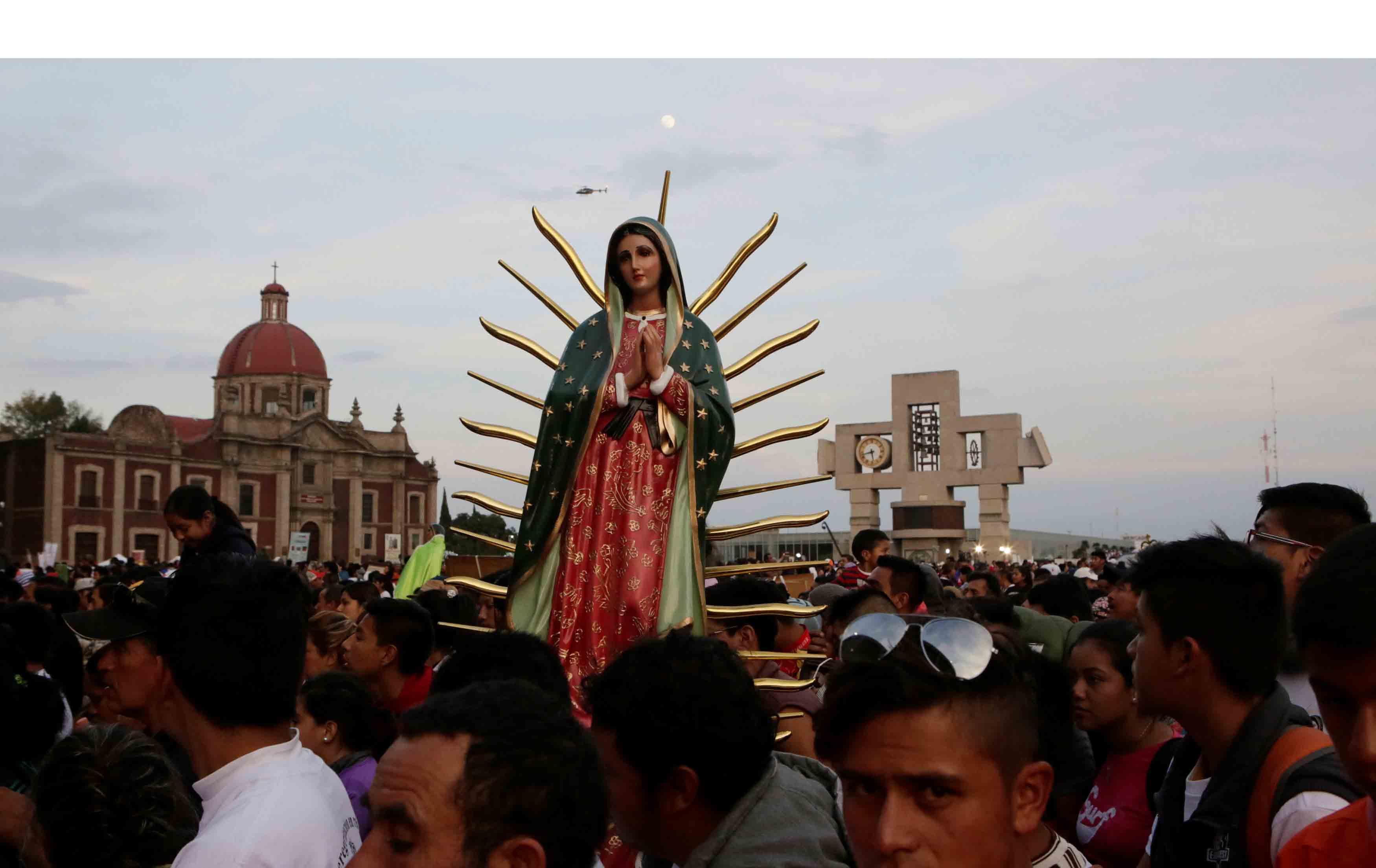 Este 12 de diciembre millones de feligreses se acercaron a la basílica de la Virgen de Guadalupe para cantarle las mañanitas celebrando los 485 años de su aparición