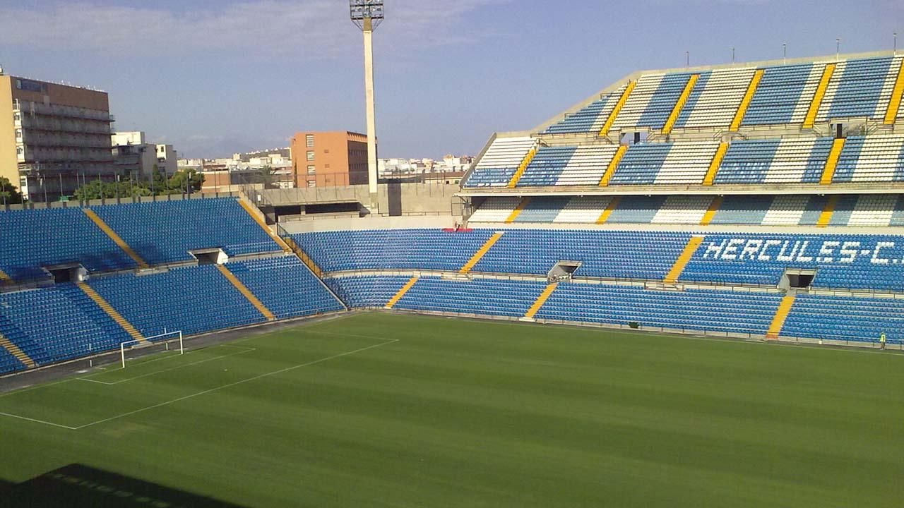 El estadio Rico Pérez ubicado en Alicante, España, será subastado por un precio inicial de 14.7 millones junto a 15% de los títulos accionariales del club