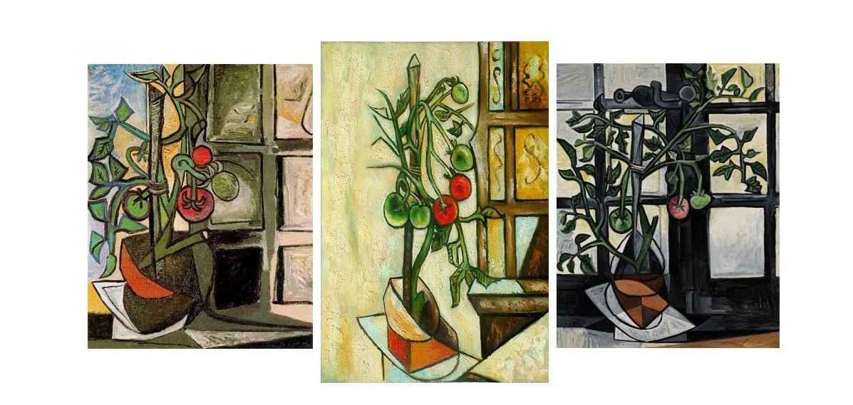 """La serie de 5 retratos titulada """"Planta de Tomate"""" será subastada este 1 de marzo por la casa de subastas, Sotheby´s la cual espera obtener hasta 18.6 millones de dólares"""