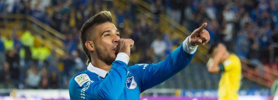El venezolano Jacobo Kouffaty jugó por primera vez con la camiseta de Millonarios y sumó uno de los 3 goles que le dio la victoria del club colombiano
