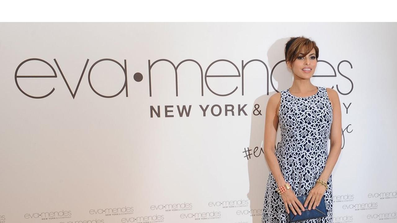 """Luego de meses sin ser vista por los medios, la actriz volvió a ser el objetivo de las cámaras durante el lanzamiento de su nueva línea """"Eva Mendes Collection"""""""