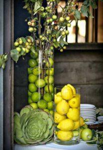 Las frutas en el diseño de interiores