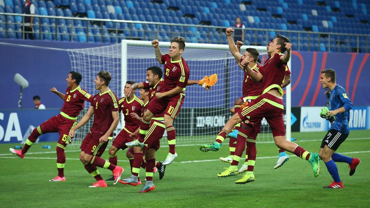 Los dirigidos por Rafael Dudamel avanzaron a la instancia decisiva después de derrotar a su similar de Uruguay en tanda de penales