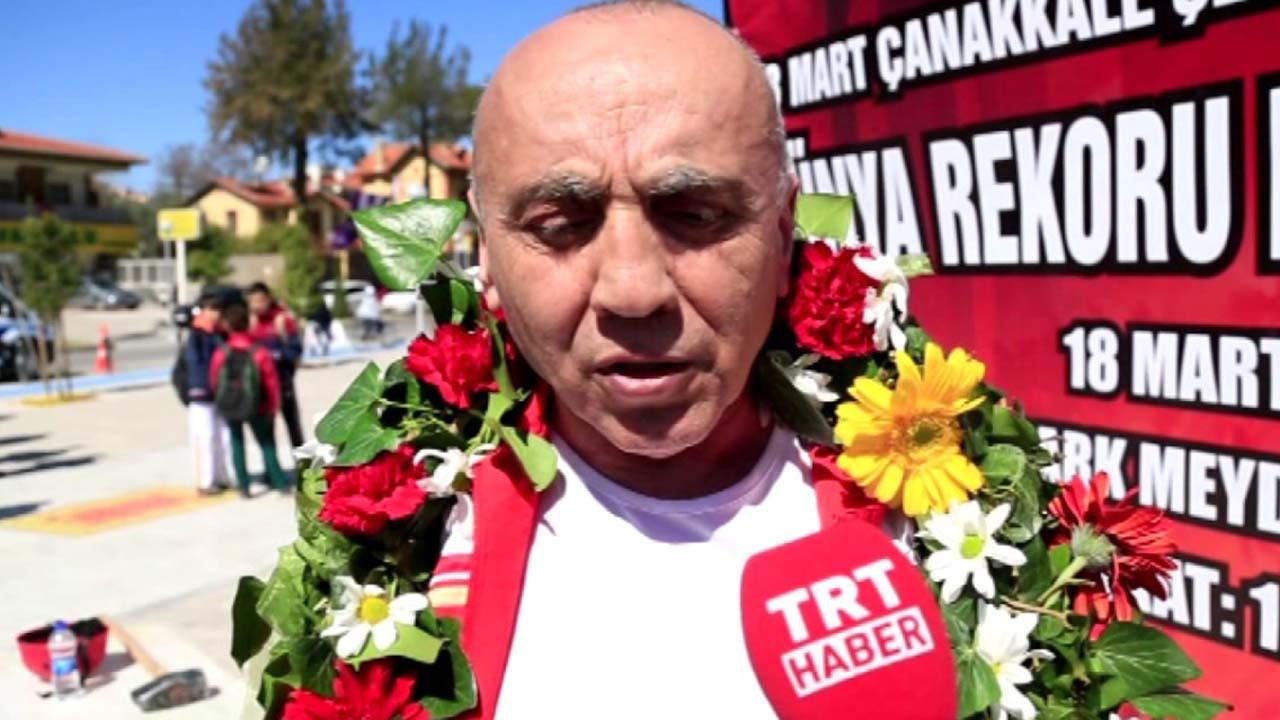 Este hombre turco logró un récord Guiness