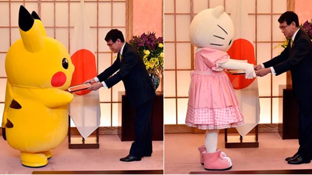 Ambos personajes representan a la ciudad de Osaka en su candidatura para organizar la World Expo 2025