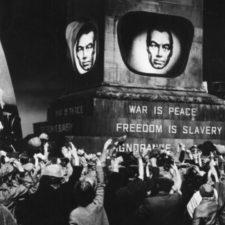 El mapa del mundo según Orwell en 1984