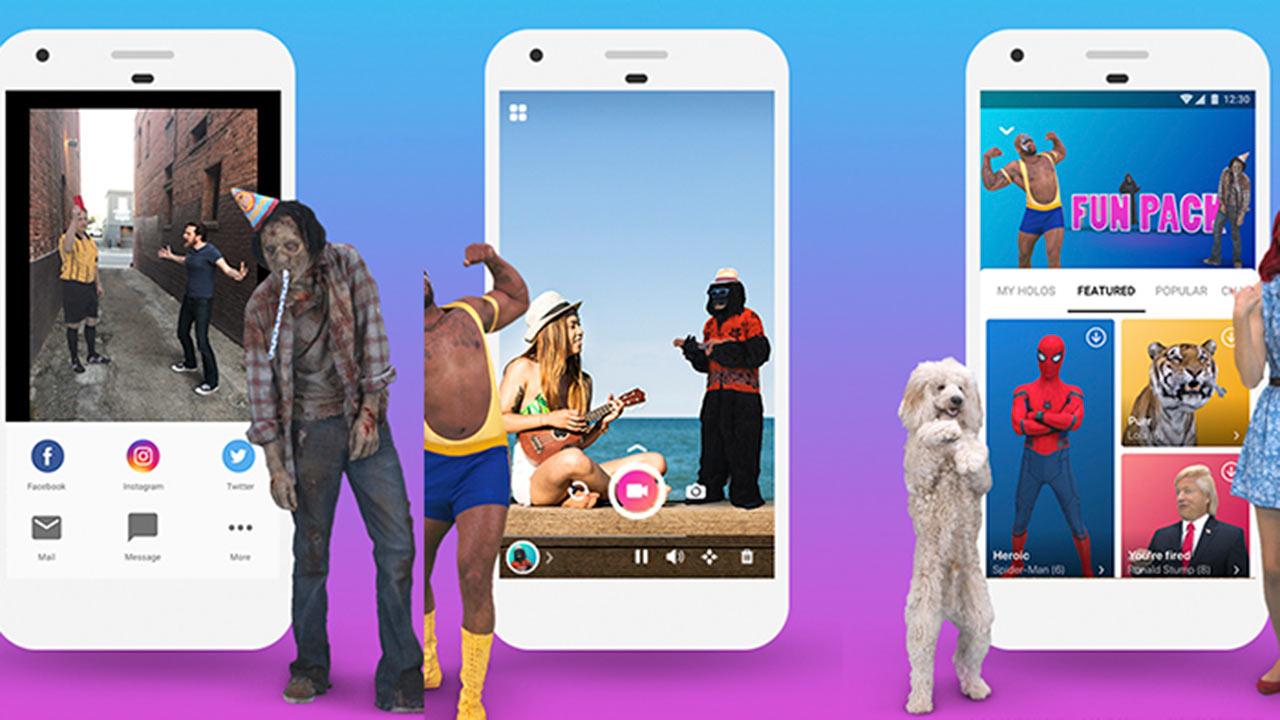 Holo llegó para presentar elementos y personajes que puedes compartir en tu apps de mensajería y redes sociales