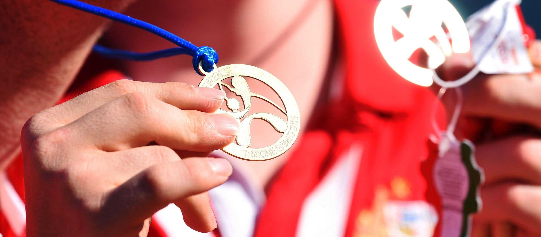 Su condición no ha sido impedimento para deslumbrar en gimnasia rítmica y ser campeona de España durante 9 años consecutivos