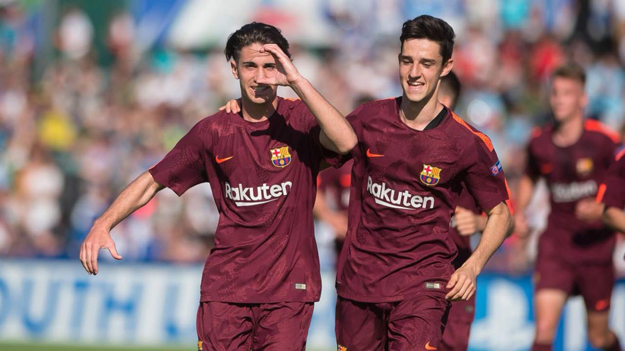 El atacante venezolano destacó en el triunfo del FC Barcelona categoría Juvenil A sobre el Manchester City en la UEFA Youth League