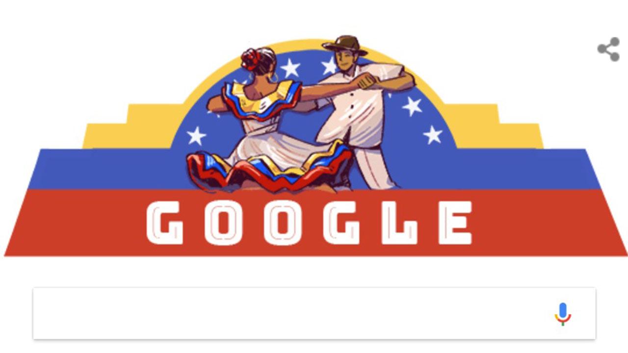 El principal buscador de la web homenajea a todos los venezolanos en la celebración del 207 aniversario de su independencia