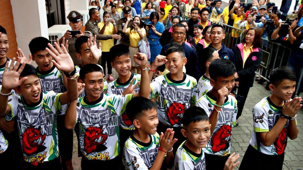 Niños rescatados de la cueva en Tailandia jugaron amistoso con River
