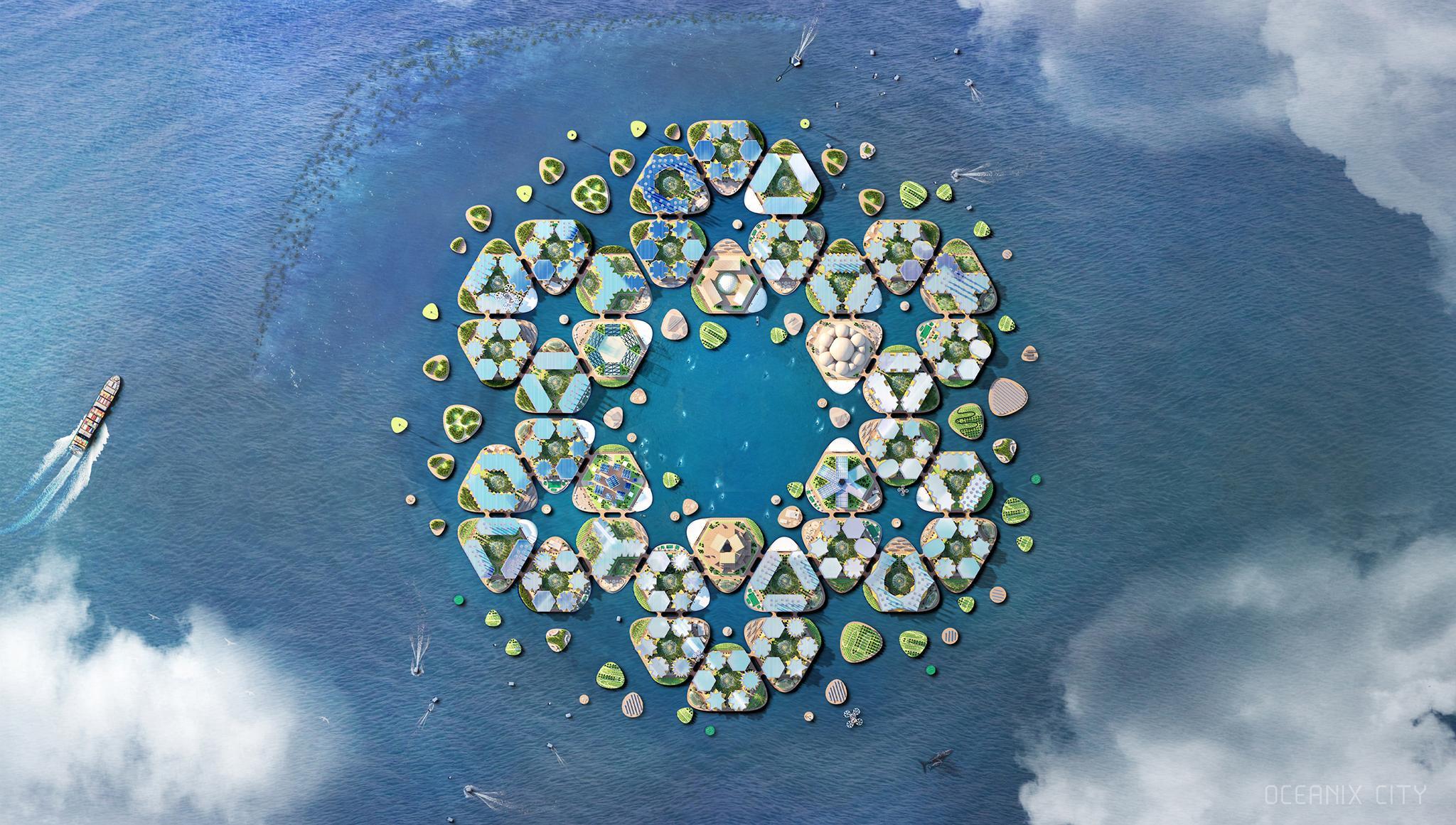"""Su nombre es """"Oceanix"""" y está diseñado para resistir desastres naturales como inundaciones, tsunamis y huracanes"""