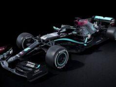 F1: Mercedes cambia habitual color plateado por el negro en su nuevo automóvil
