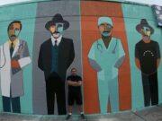 Edo realizó un mural para homenajear a José Gregorio Hernández