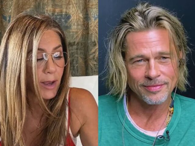 Jennifer Aniston y Brad Pitt causan furor en reencuentro virtual
