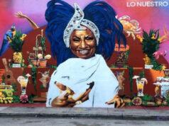 Un mural de proporciones grandes y full color como reconocimiento al icono musical