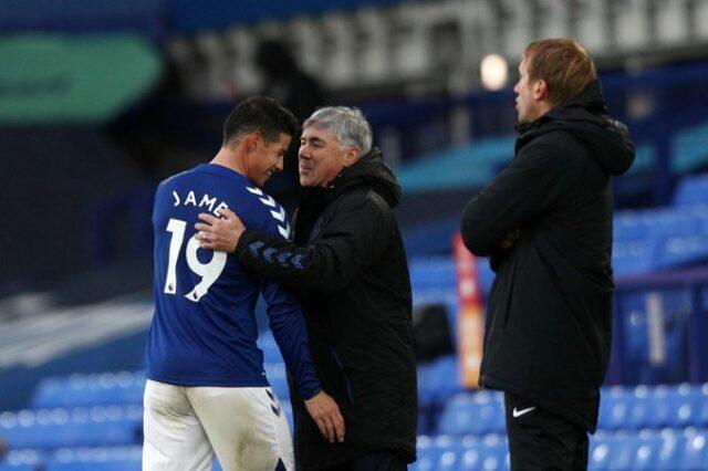 Bajo la tutela de Carlo Ancelotti, James Rodríguez asiste, marca goles y baila
