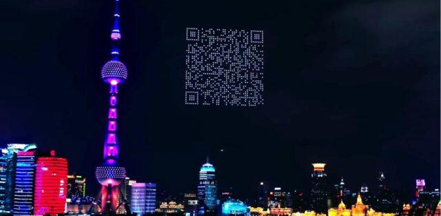 El Sumario - Forman gigante código QR para promocionar videojuego con 1.500 drones