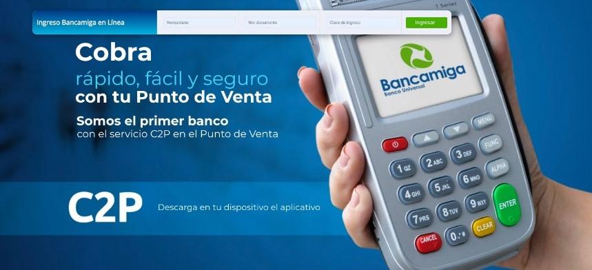 Bancamiga facilita la vida de los comercios con el servicio C2P
