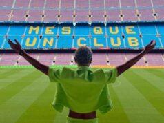 El Camp Nou homenajea al Barcelona femenino y a Yulimar Rojas