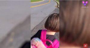 El Sumario - Mira cómo un padre alegró a su hija tras regresar del colegio